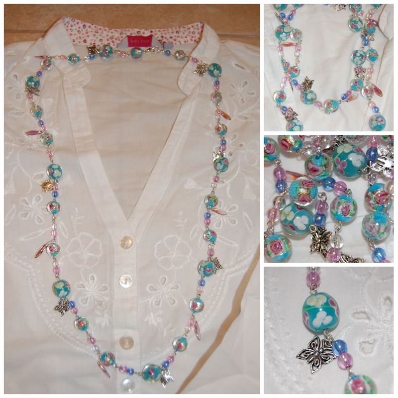 Summer necklace collage
