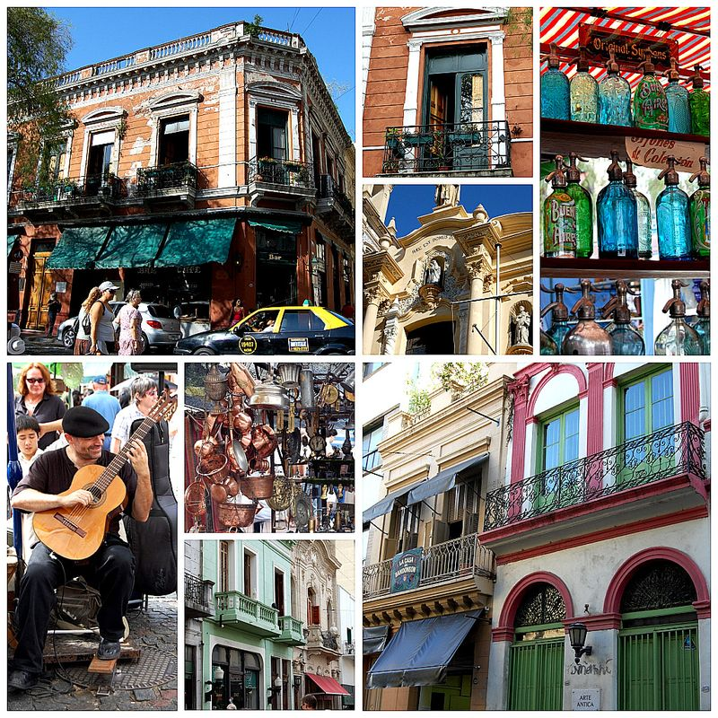 San Telmo collage