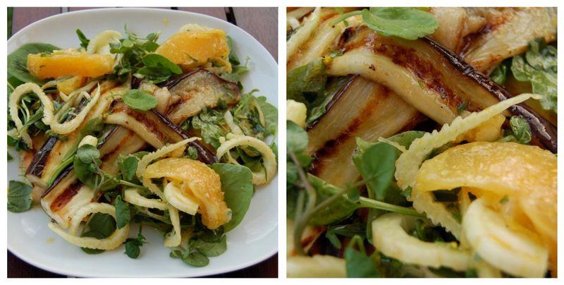Aubergine Salad collage